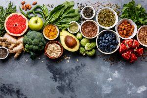 Organic and vegan food