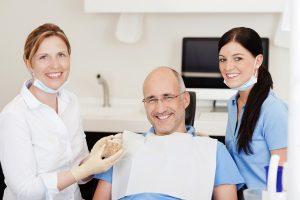 Man before dental implant