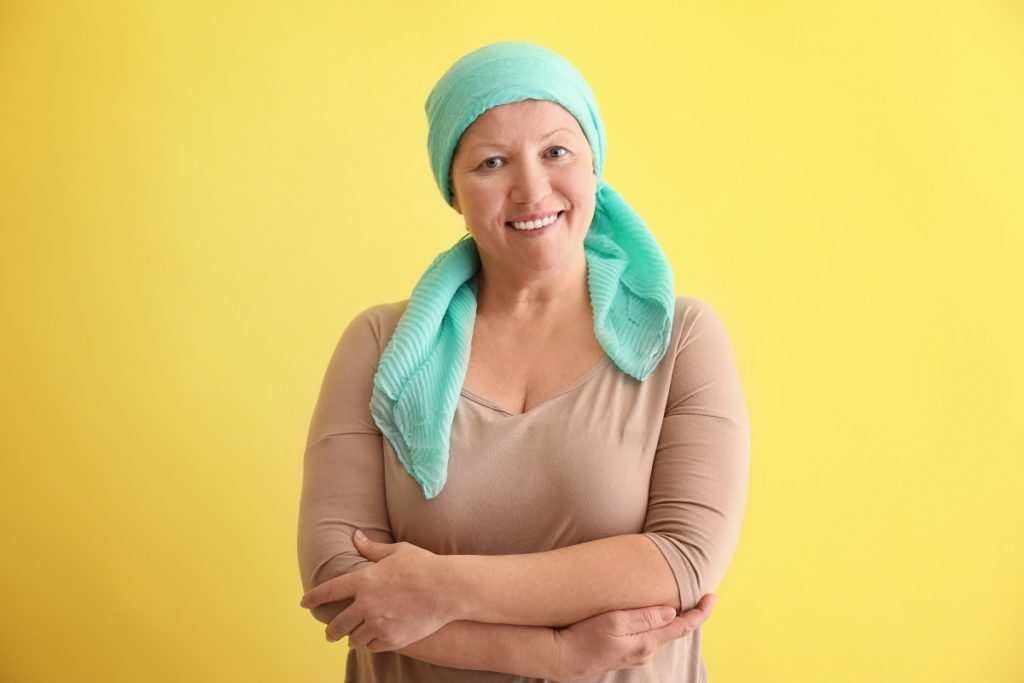 a cancer patient smiling