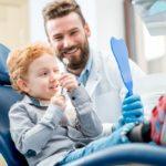Child on dentist chair