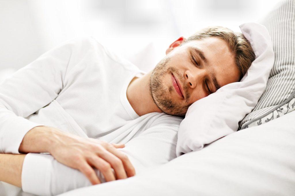 Man having a good sleep