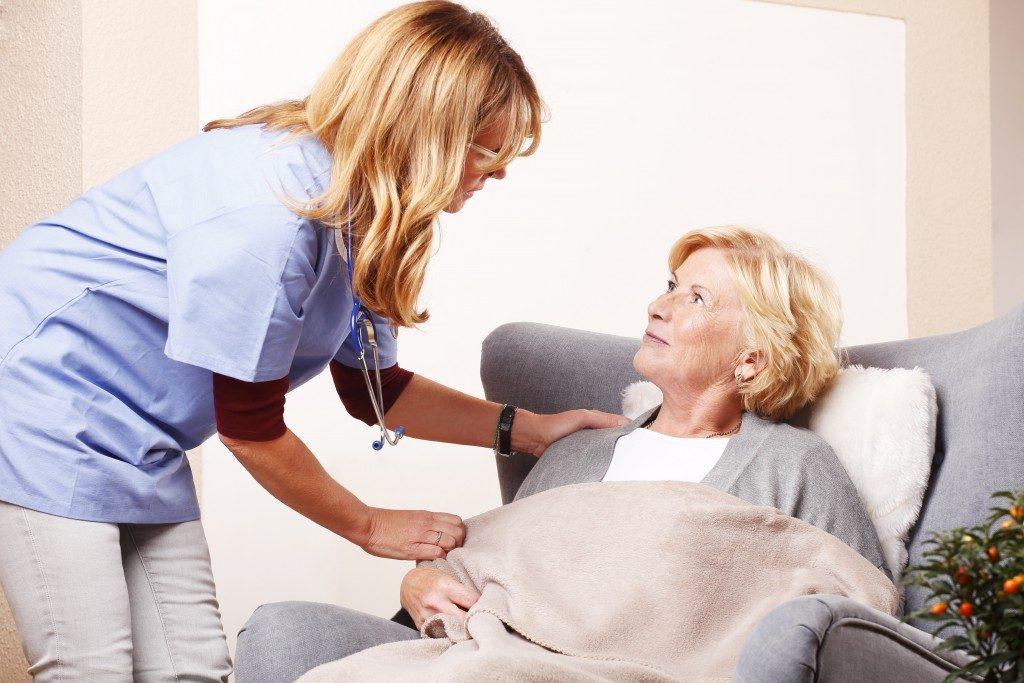 Nurse caring for a senior