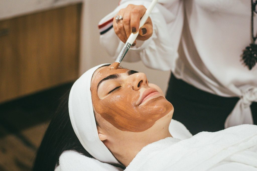 woman getting skin treatment